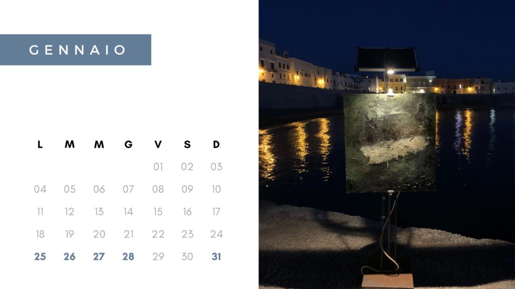 calendario gennaio 2021